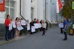 Севастопольские коммунисты и Союз советских офицеров пикетируют Законодательное собрание города