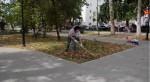 Субботник в сквере на площади Захарова