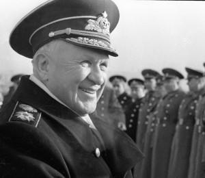 Заместиетль министра обороны СССР С. Г. Горшков на параде