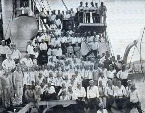 Команда крейсера Очаков за две недели до восстания 1905 г.