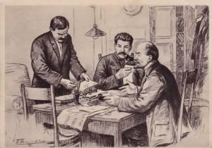 Lenin_Stalin_Molotov_v_redakcii_gazety_Pravda
