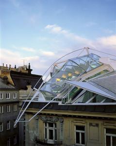 Офис на крыше на Фолькенштрассе в Вене, Австрия