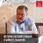 Историк Евгений Спицын о бойкоте выборов